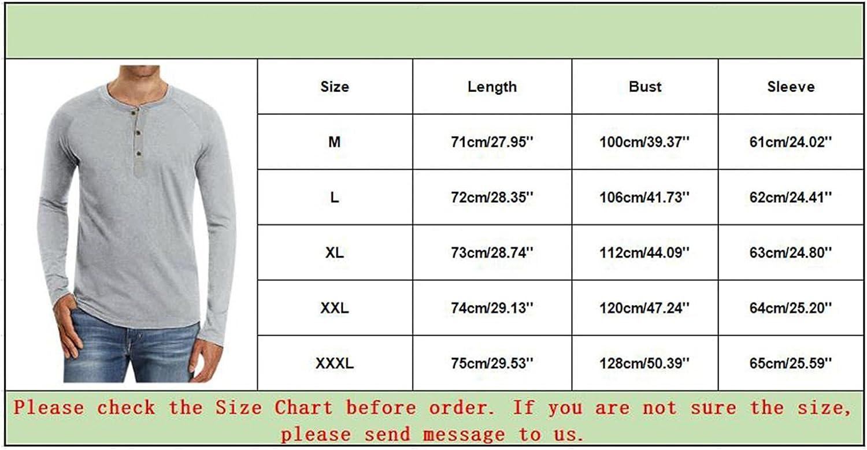 Men's Casual Lightweight Henley Shirt Hippie Long Sleeve Cotton Button Down T-Shirt Pullover Sweaters Baselayers