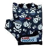 Kiddimoto Kinder Fahrradhandschuhe Fingerlose fr Jungen und Mdchen - Pirat Skullz - M (4-8y)