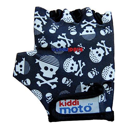 Kiddimoto Kinder Fahrradhandschuhe Fingerlose für Jungen und Mädchen - Pirat Skullz - S (2-5y)