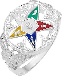 New Ladies 10k Gold Masonic Freemason Eastern Star Ring
