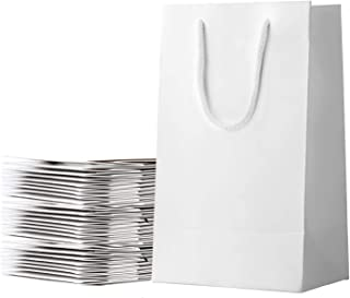30pcs Thickened Sturdy White Paper Craft Bags Large 13''×11''×4'' Bulk Gift Bags With Handles,Recyclable Bags for Shopping...