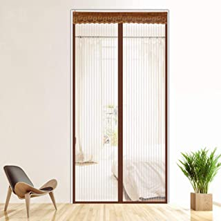 FOOX Magnetic Screen Door, Thermal and Insulation Magnetic Screen Plastic Door Curtain Enjoy Cool Summer & Warm Winter Fit Your Door Size Up,32x80in/80x200CM