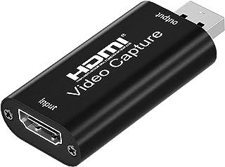 XTYM HDMI キャプチャーボード USB2.0 1080P30Hz HDMI ゲームキャプチャー・ ビデオキャプチャカード ゲーム実況生配信・画面共有・録画・医用撮像・ライブ会議に適用 UVC(USB Video Class)規格準拠 N...