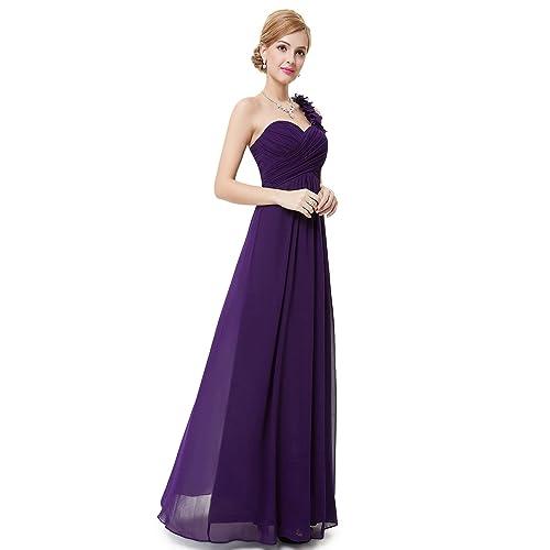 0c6c342b211b Ever Pretty Women's Flower Ruffles One Shoulder Bridesmaid Dresses for  Women 09768 White