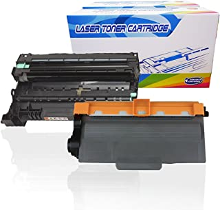 Inktoneram Compatible Toner Cartridges & Drum Replacement for Brother TN720 DR720 DR-720 TN-720 MFC-8510DN MFC-8710DW MFC-8810DW MFC-8910DW MFC-8950DW MFC-8950DWT DCP-8110DN ([Drum, Toner], 2PK)