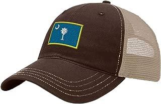 Custom Trucker Hat Richardson South Carolina State Flag Embroidery City Cotton