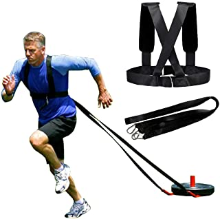 XJunion Sled Harness Tire Pulling Harness Fitness Resistance Training Workout -Adjustable Padded Shoulder Strap