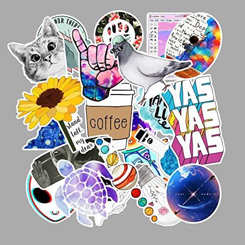 BLOUR 103 Pegatinas de Graffiti Frescas pequeñas Maleta Monopatín Refrigerador Pegatinas para portátil