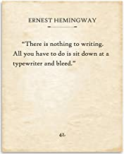 Ernest Hemingway - There Is Nothing To Writing - 11x14 Unframed Typography Book Page Print - Great Gift for Book Lovers, Also Makes a Great Gift Under $15