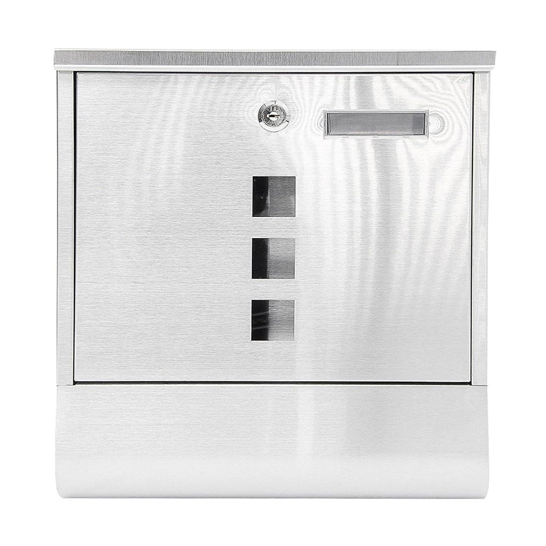 TLMY ステンレス鋼のレターボックス屋外の壁のロック新聞の箱屋外ステンレス鋼の防水のメールボックス メールボックス