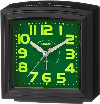 ランデックス(Landex) 目覚まし時計 アナログ レガートST 集光文字盤 ブラック YT5239BK