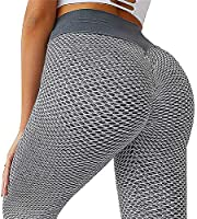 YUUY Women's High Waist Yoga Pants Essentials Ankle Legging Tummy Control Slimming Booty Leggings Workout Running S-XL