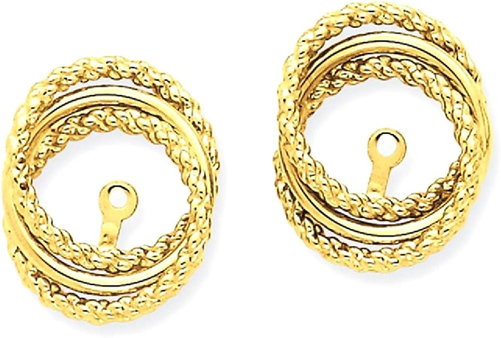 14k Yellow Gold Twisted Ear Jacket Jackets For Studs Fine Jewelry For Women Gifts For Her