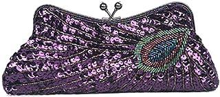 Ladies' Clutch Beaded Sequins Dinner Bag Peacock Shoulder-shouldered Handbag Cheongsam/Dress Bag Fashion Zero Purse Bag Party/Bridal bag