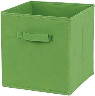 Hotaden Tissu Panier Bin Boîtes de Rangement de Rangement Pliable Cubes Organisateur avec poignées Vertes