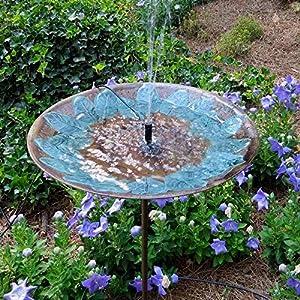 Solar Bird Bath Fountain By Sunlitec