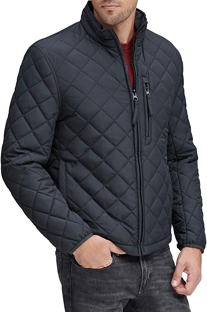 Marc New York by Andrew Marc Men's Fillmore Quilted Jacket with Faux Sherpa Insert Lining