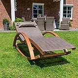 Relax Schaukelstuhl Rio, Relaxliege mit Armlehnen, Gartenmöbel aus vorbehandeltem Holz - 3