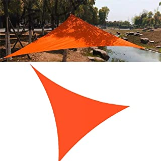 Gralet-home Sun Awning Triangle Waterproof Tent Sunshade Sail Garden Patio Awning Canopy UV Shelter Outdoor Camping 3x3x3m/10x10x10ft with Ropes UV Block (Color : Orange, Size : 3x3x3m)