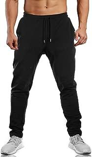 Men's Closed Bottom Sweatpants Zipper Pockets Drawstring Camo Joggers Pants for Gym Workout