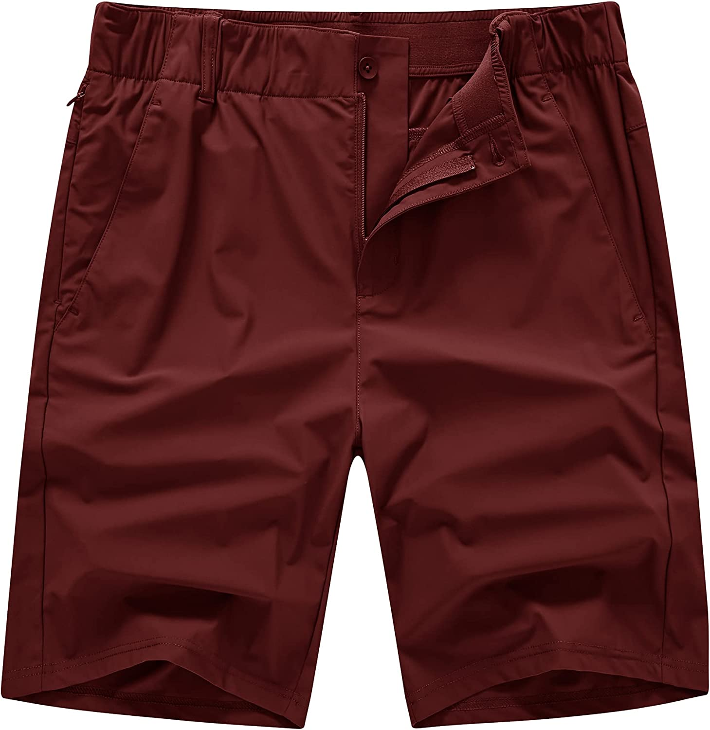 YSENTO Men's Golf Cargo Work Shorts Relaxed Fit Quick Dry Hiking