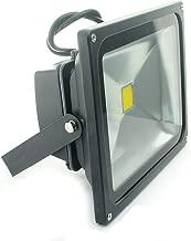 QUANS 30W Watt Warm White 12V 24V AC DC Ultra Bright LED Security Wash Flood Light Floodlight Lamp High Power Black Case Waterproof IP65 Work in The Rain Superbright 3000K, 12-24V Input Low Voltage