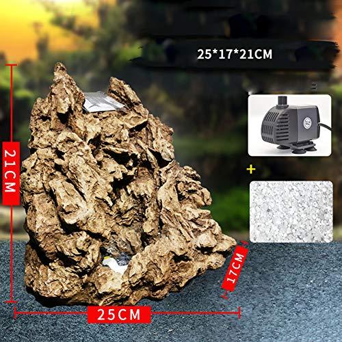 DALEI Aquarium Sandfälle Sinkendes Aquarium Dekorationen Simulation Aquarium Dekor,Braun,S