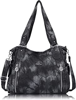 Handbags for Womens Top-Handle Hobo Purse Roomy Casual Shoulder Bags PU Tote Satchel Purse for Womens