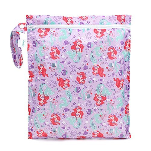 Bumkins Waterproof Wet Bag, Disney Washable, Reusable for Travel, Beach, Pool, Stroller, Diapers, Dirty Gym Clothes, Swimsuits, Toiletries, 12x14