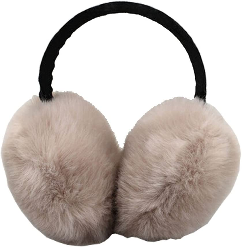 Phoenix Wonder Fashion Plush Faux Fur Earmuffs Earwarmer Winter Accessory,Thick,Khaki