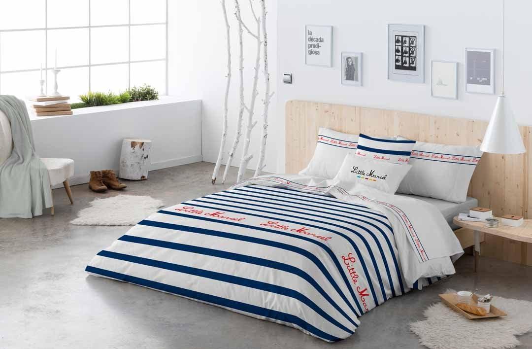 Little Marcel Housse De Couette Morgana 100/% Coton 140x200 Cm Bleu Marine