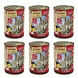 NATURAL GREATNESS - Comida Húmeda para Perros de Reno y Arenque con Yogur, Banana y Fresas. Pack de 6 Unidades de 400 gr Cada una | ANIMALUJOS