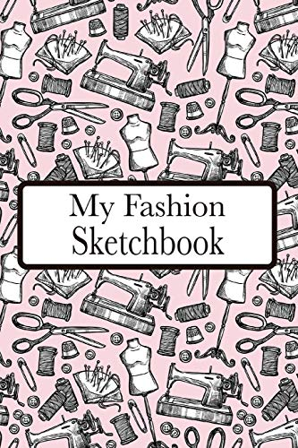 My Fashion Sketchbook: Fashion Croquis Sketchbook Female Figure Template Easily Sketch On Large Figure Template accompanied by Dot Grid pages for Accessories etc.  (pink)