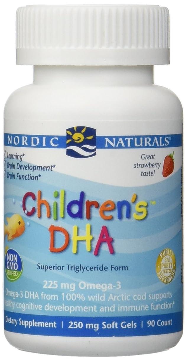 追記保持する水星海外直送品Nordic Naturals Children''s DHA Strawberry, Strawberry 90 softgels 250 mg