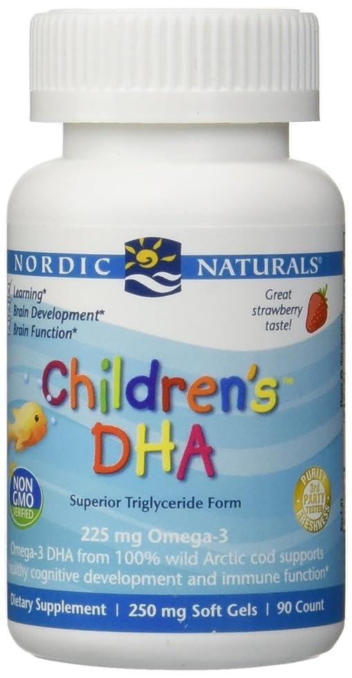 深遠時間とともに導体海外直送品Nordic Naturals Children''s DHA Strawberry, Strawberry 90 softgels 250 mg