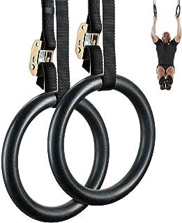 FDYD Anillas de Gimnasia con Correas Ajustables, Amazing Gimnasia Anillos para Muscular del Peso del Cuerpo de Entrenamiento de Fuerza rápidamente y Construir Masa Muscular magra