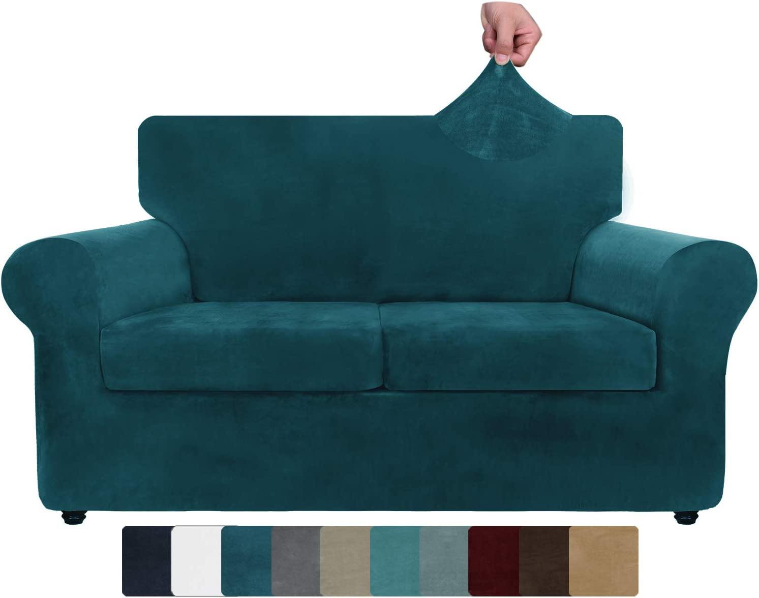 ZNSAYOTX Luxury 40% At the price of surprise OFF Cheap Sale Velvet Couch Cover 4 Sofa Piece f Covers Stretch