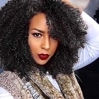 AISI HAIR Lace Front Afro Kinkys Curly Wig Synthetic Lace Front Wigs For Black Women Heat Resistant Daily Wear 16 Inches