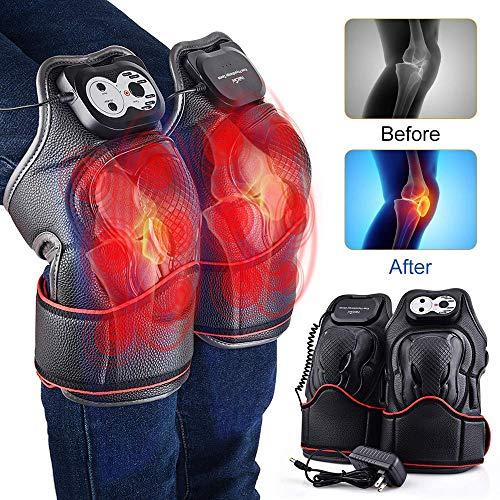 Langyinh Elektrische verhit kniesteun voor wikkelen, verwarming, kniemassageapparaat voor gewrichtspijnen, krampen, artritis meniscus pijnverlichting (1 paar)