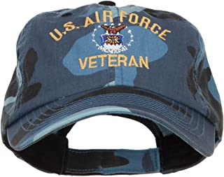 e4Hats.com US Air Force Veteran Military Embroidered Enzyme Camo Cap