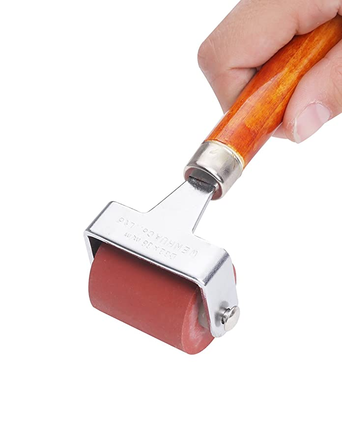 MEEDEN Hard Rubber Brayer Roller 1-1/2-Inch for Printmaking Craft Projects