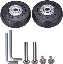Juego de 2 pares de ruedas de repuesto para maleta kit de tornillos de reparaci/ón de ruedas giratorias de goma OD 50//60 mm