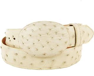 Original WinterWhite Ostrich Skin Western Style Belt