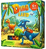 Dino Land - Fun Dinosaur Games for Girls & Boys Ages 6 and Up. 2-4 Players Vie to Grow Baby Dino Fastest. Educational Kids Board Games for Families Promote Problem Solving, Strategy, Social Skills