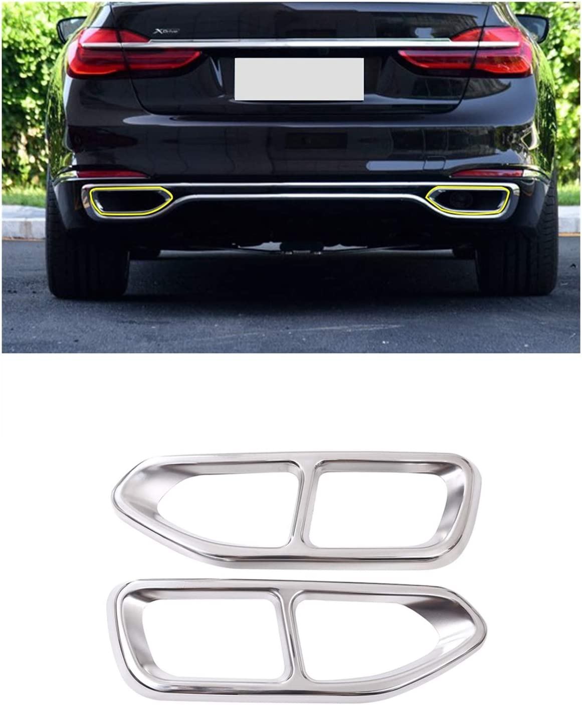 Exhaust Tail Tip for BMW 7 Series G11 2016-201 730 740 High quality Max 85% OFF new G12 750li
