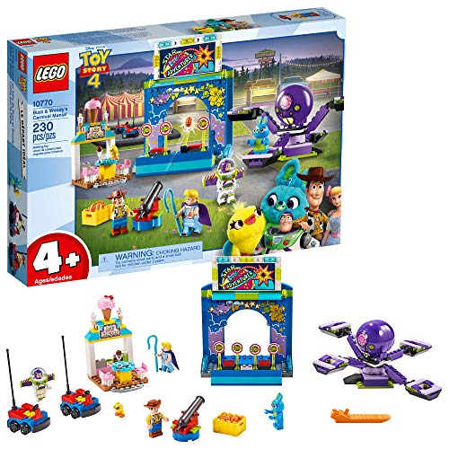 LEGO Disney Pixar?s Toy Story 4 Buzz Lightyear & Woody?s Carnival Mania 10770 Building Kit, Carnival Playset with Shooting Game & Toy Story Characters (230 Pieces)
