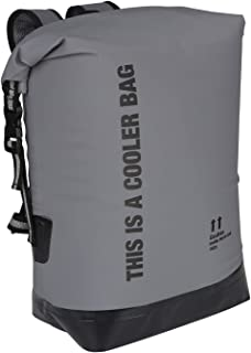 yodo 20L Waterproof Dry Bag Roll Top Floating Insulated Cooler Backpack for Travel, Boating, Kayaking, Swimming, Fishing, Camping and Beach,Grey