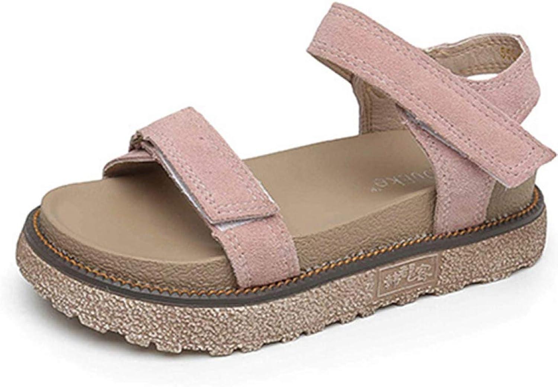 JOYBI Women's Platforms Sandals Open Toe Ankle Strap Hook Loop Walking Beach Outdoor Indoor Casual Flats