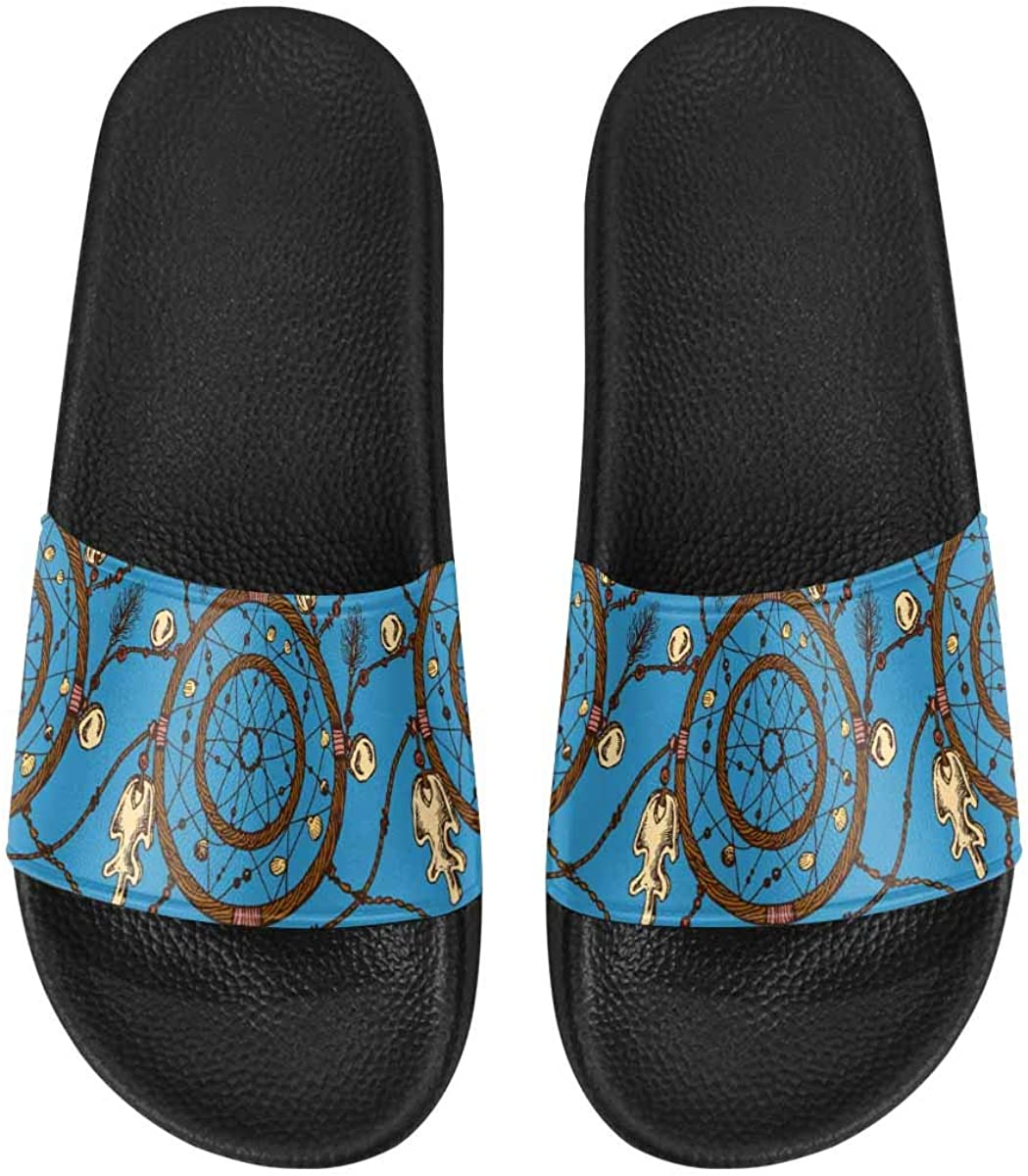 InterestPrint Casual Slipper Sandals for Women with PVC Straps Different Brands with Flowers