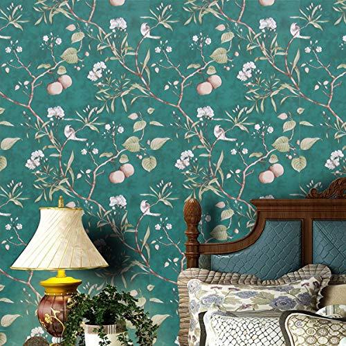 Abziehen und Aufkleben entfernbare Tapete, 45 x 200 cm, modernes Wandkontakt-Papier, modernes Wandkontakt, Papier, Vinyl, selbstklebend, für Zuhause, Grün